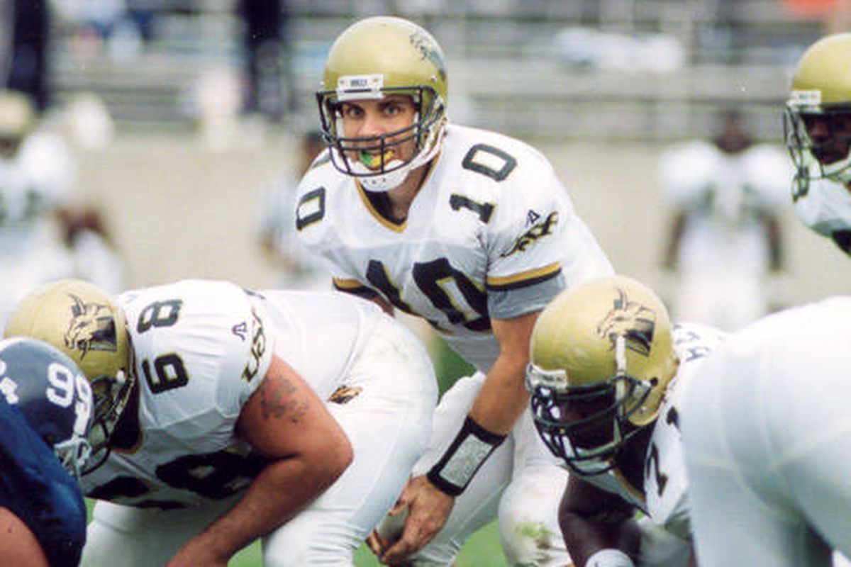 Chad Barnhardt against Georgia Southern in 1998.