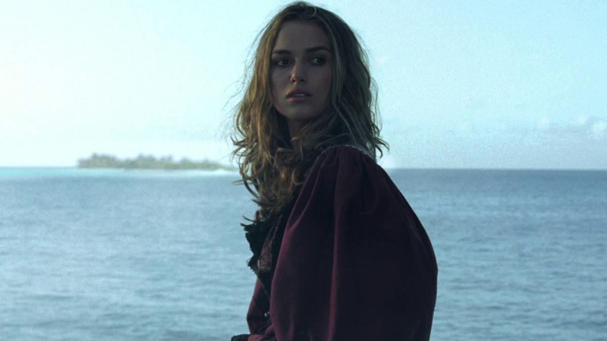 elizabeth in a red dress