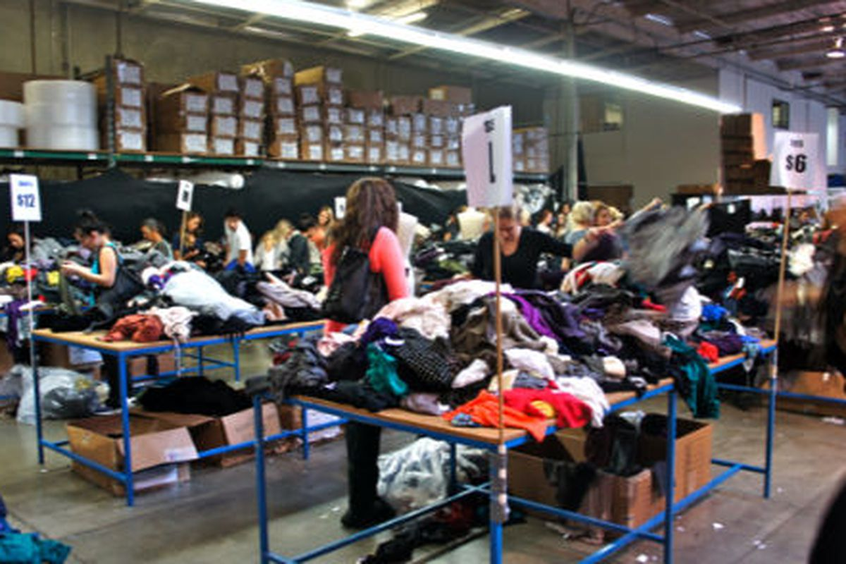 """Photo of last year's sale via <a href=""""http://www.inkedandsewn.com/2011/10/fashion-find-lf-warehouse-sale-1021.html"""">Inked &amp; Sewn</a>."""