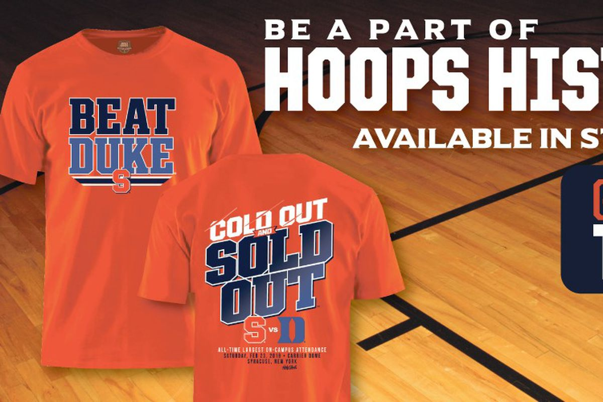 best website 86116 0bff3 Talking about Syracuse's official shirt for the Duke game ...