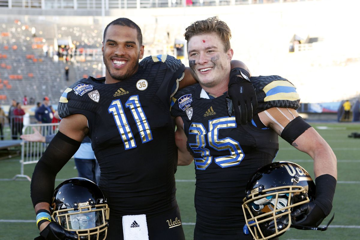 These two Bruins are trying to acclimate to the NFL from distance thanks to an antiquated rule that punishes players for finishing their degree.