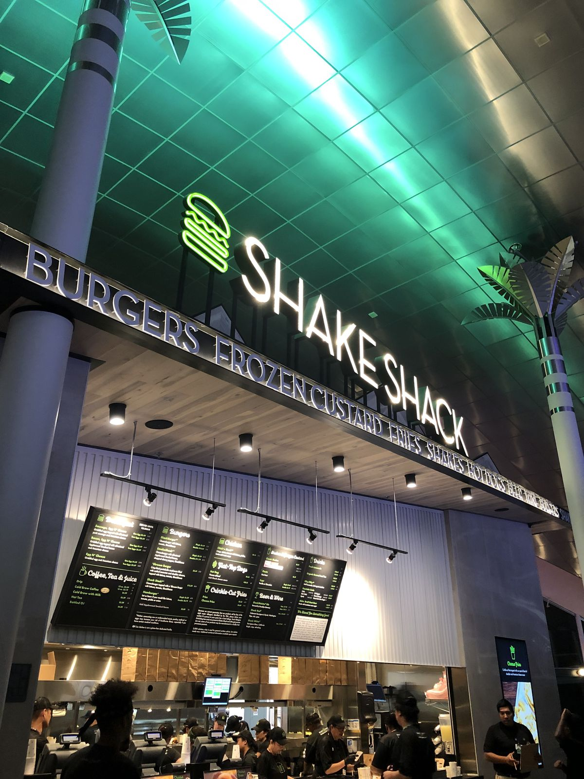 A view of the Shake Shack now open at McCarran International Airport