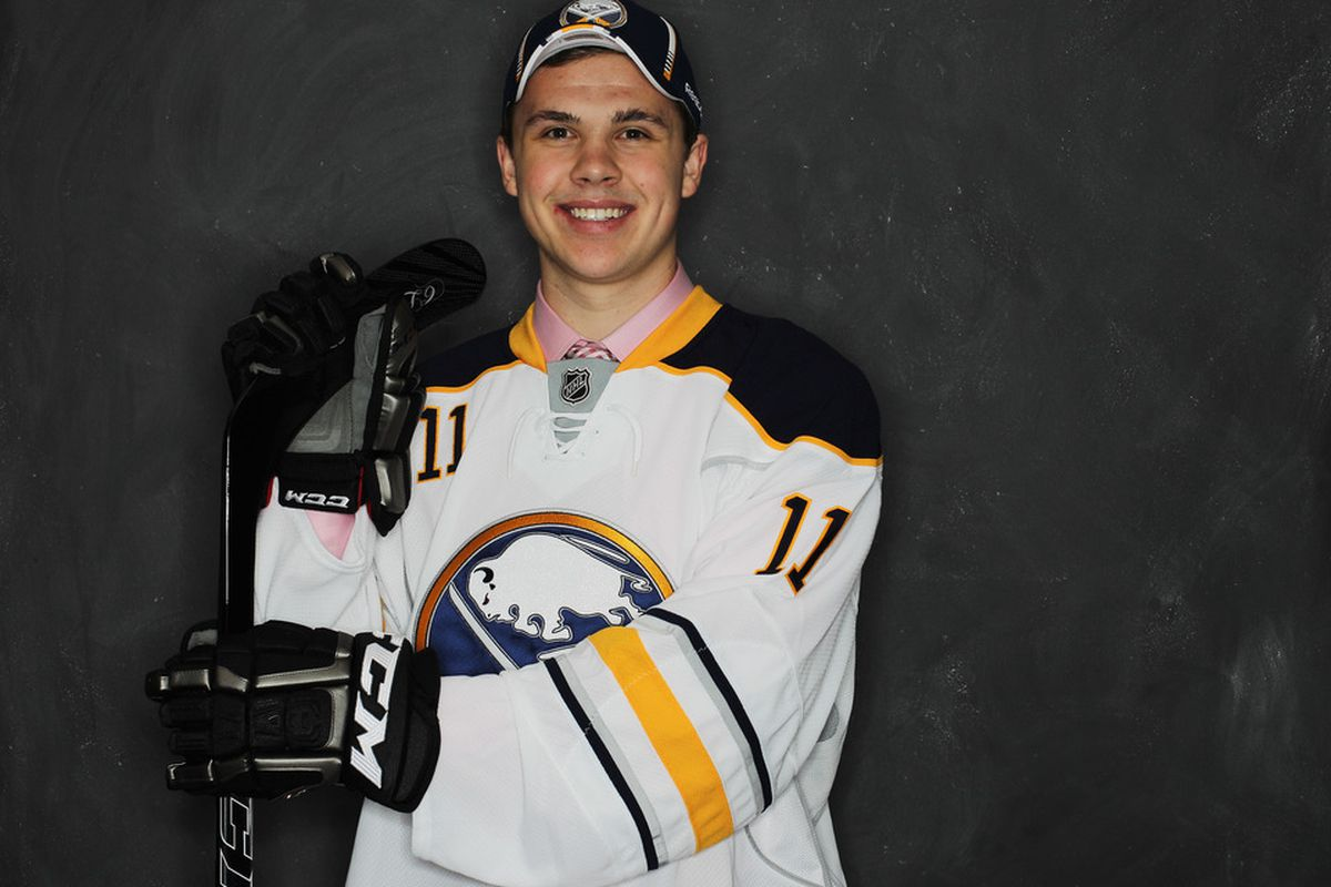 Colin Jacobs is sure happy to a member of the Sabres. I would be too.