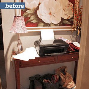 <p><strong>Before:</strong> Houston's warm climate didn't warrant a full-scale mudroom, but the homeowners still needed a designated entry drop spot.</p>