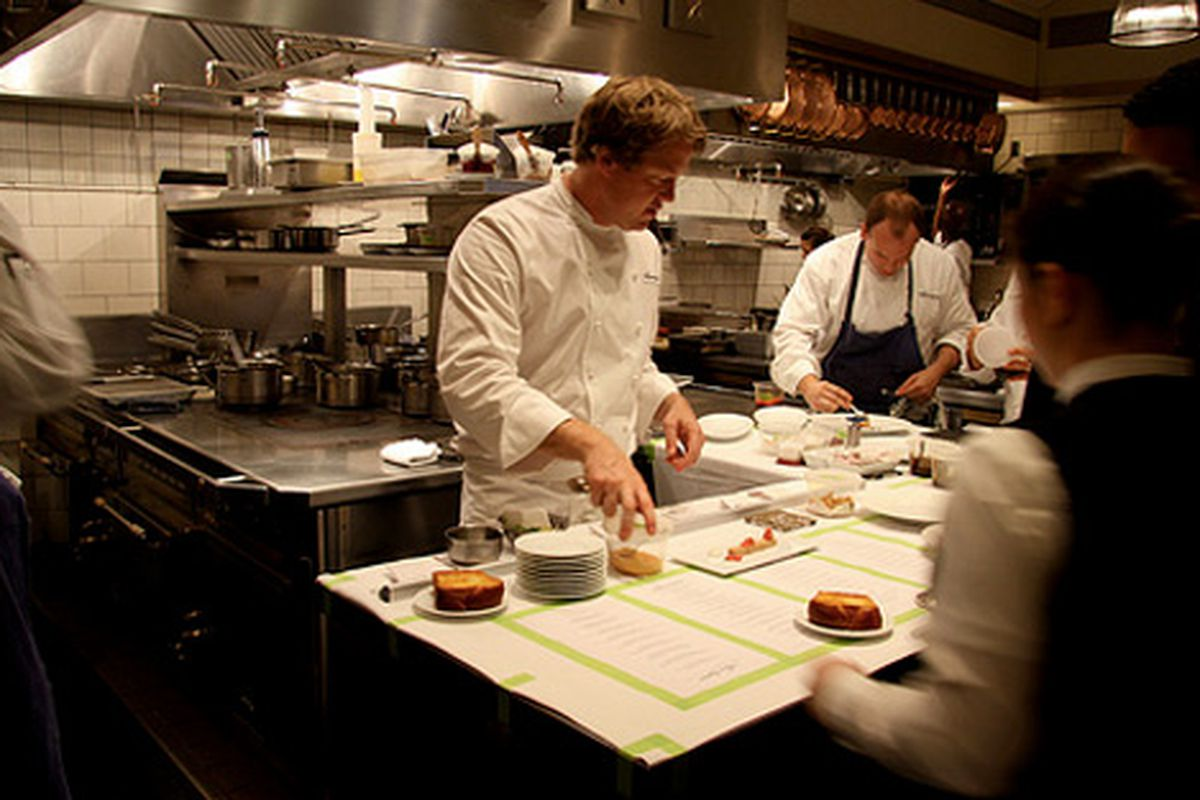 """Photo of the French Laundry's Timothy Hollingsworth going about his business <a href=""""http://www.flickr.com/photos/bonnibelle/4580193001/in/pool-520531@N21"""">by Flickr user bonnibella</a>"""
