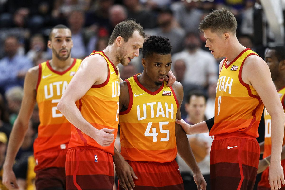 hot sales 6b07a e75db Utah Jazz guard Donovan Mitchell named West's top rookie for ...