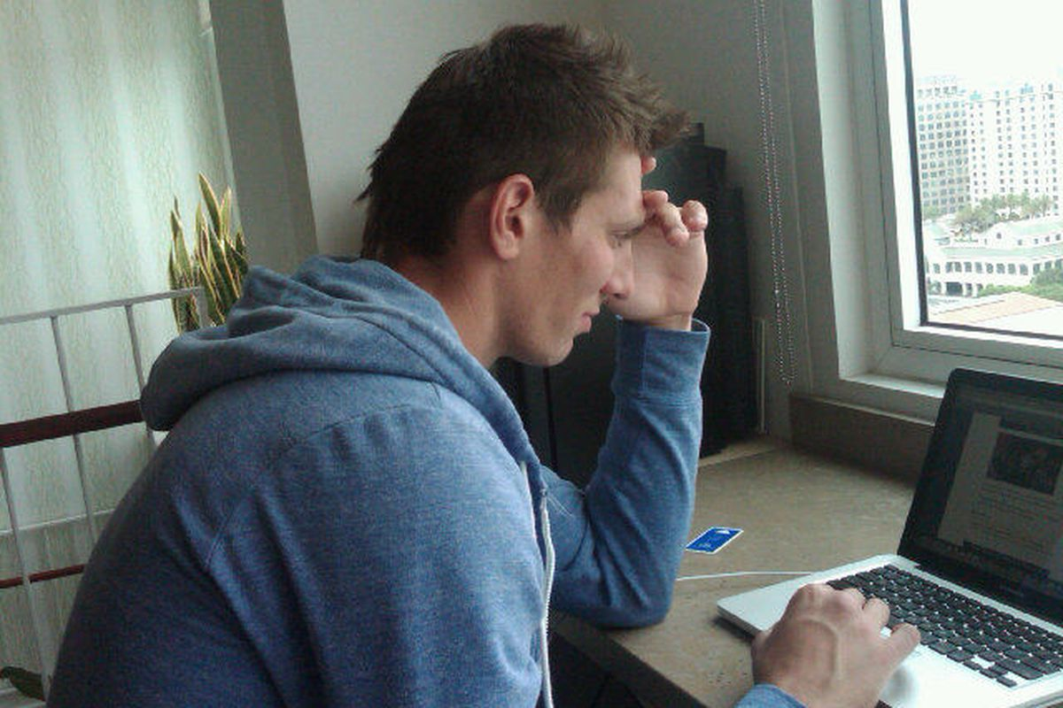 """@Logancouture: """"Fraz figuring out how to beat me...not possible"""""""