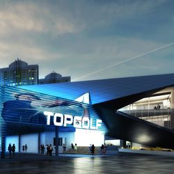 The entrance to Topgolf.