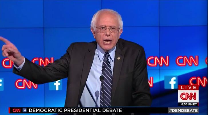 cnn debate sanders
