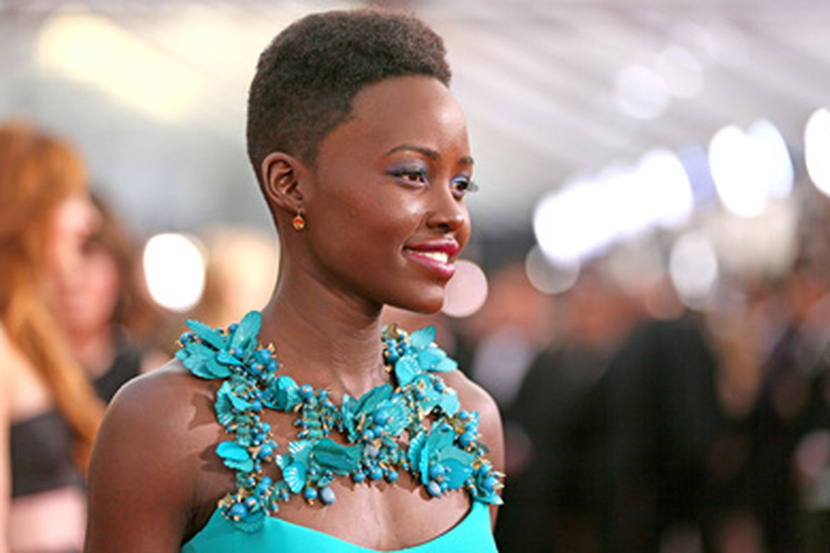 Actress Lupita Nyong'o attends the 20th Annual Screen Actors Guild Awards at The Shrine Auditorium