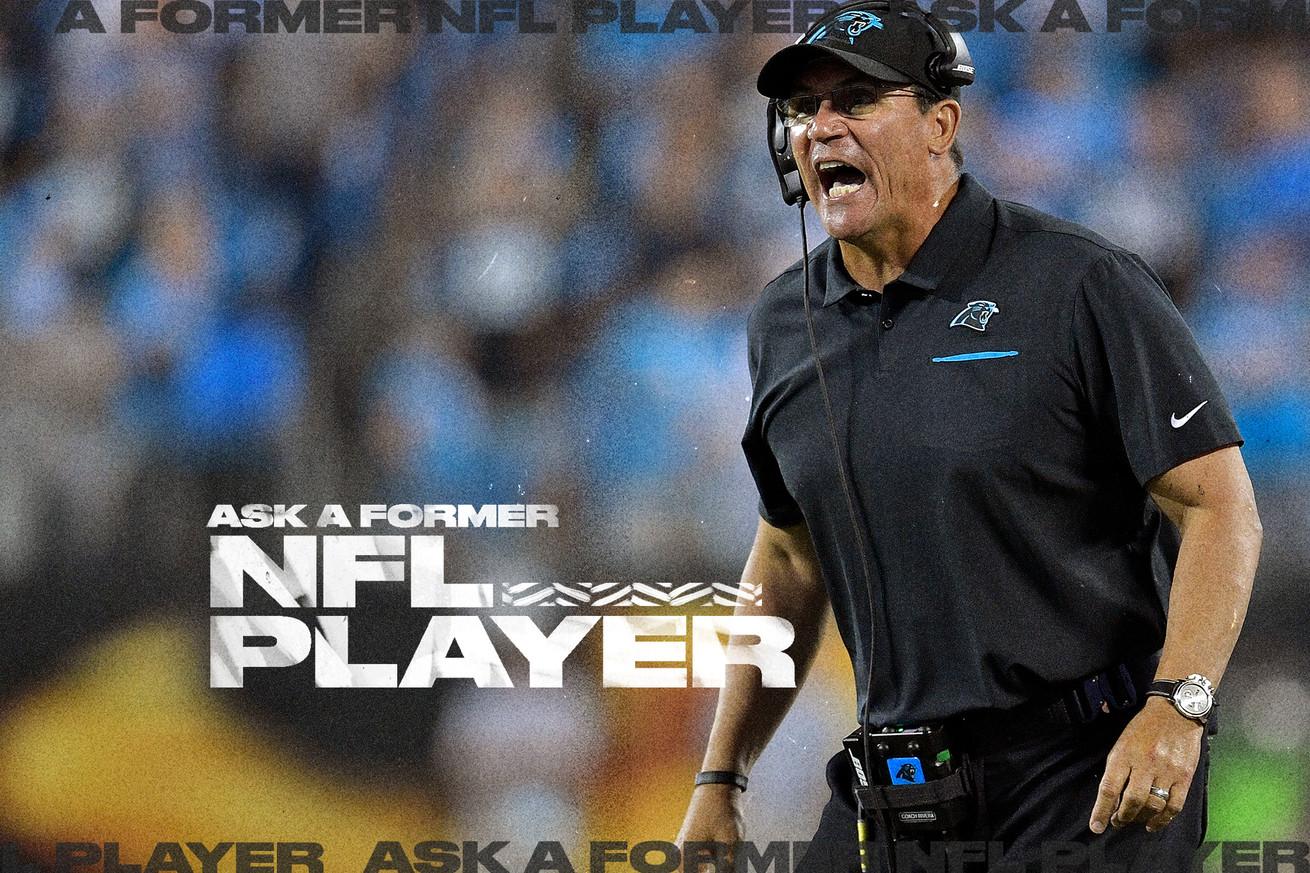Panthers coach Ron Rivera yells