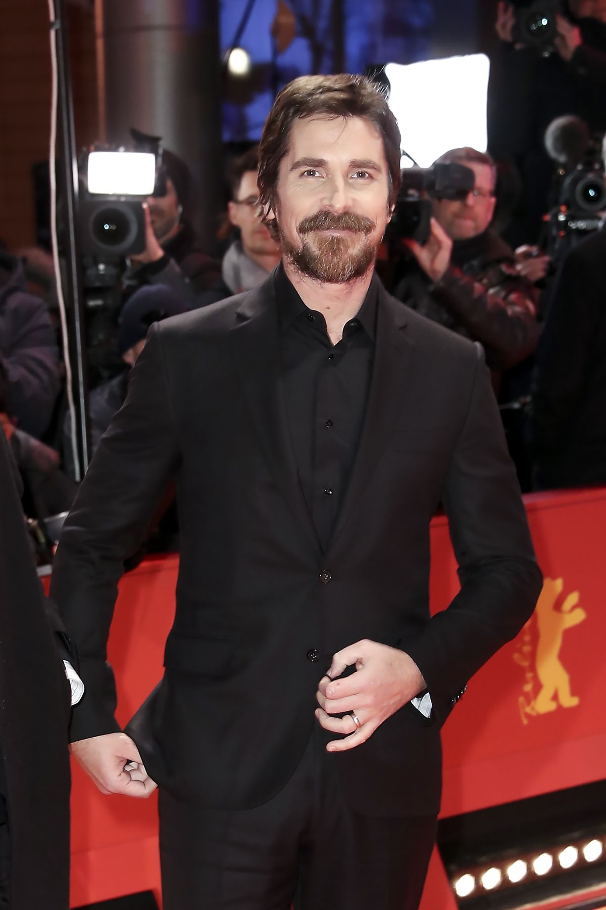 Christian Bale at the Vice premiere in Berlin, February 2019.