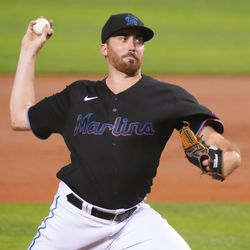 Zach Thompson, Marlins starting pitcher on Monday