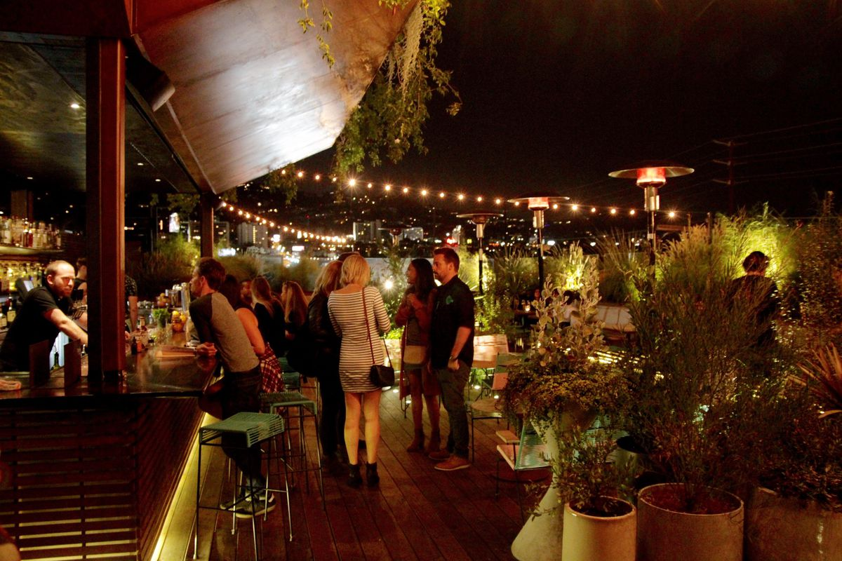 The rooftop at EP/LP, West Hollywood