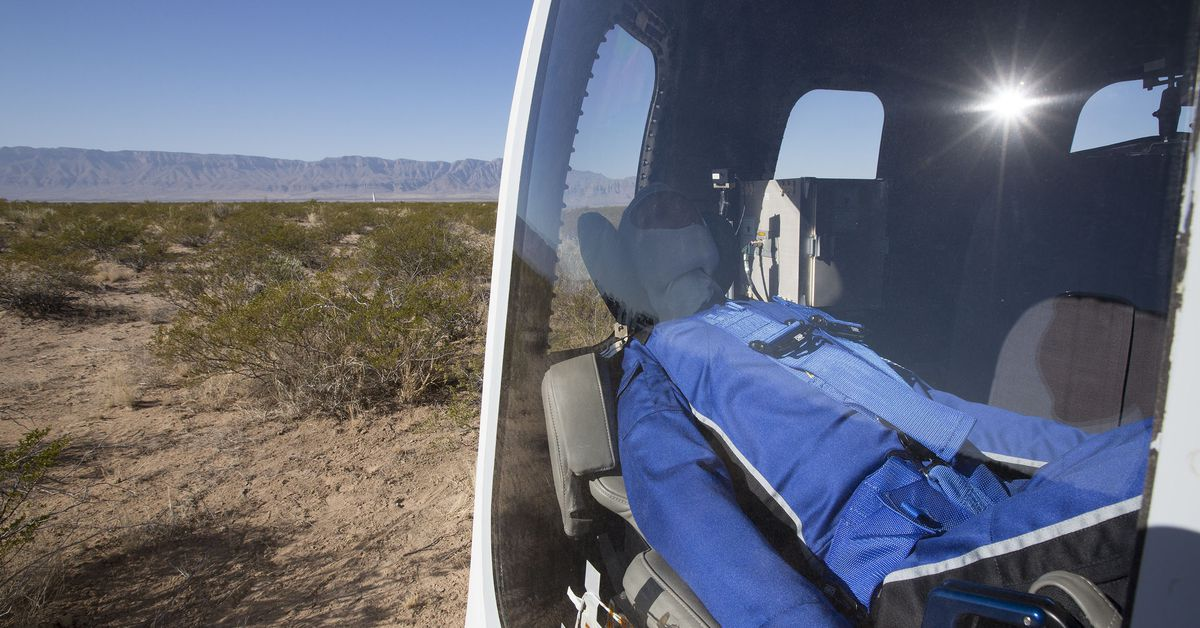 Watch Blue Origin's mannequin ride to space and back