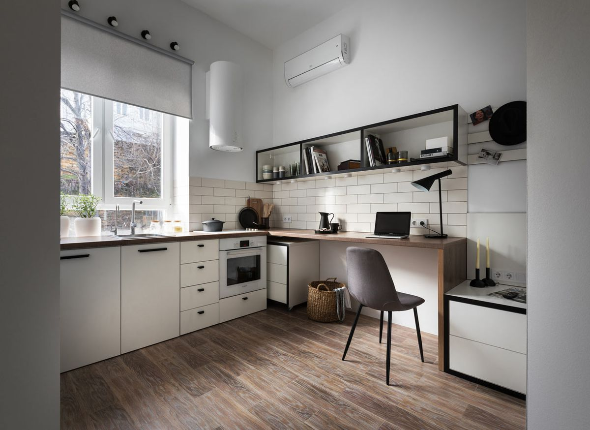 Stylish studio apartment measures just 186 square feet ...