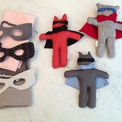 """<a href=""""http://instagram.com/p/ZoNhRvCeup/"""">@stevenalan:</a> """"Superheroes just flew into our Home Shop. Eco-friendly dolls, masks, and capes by @kathryndaveydesign."""""""