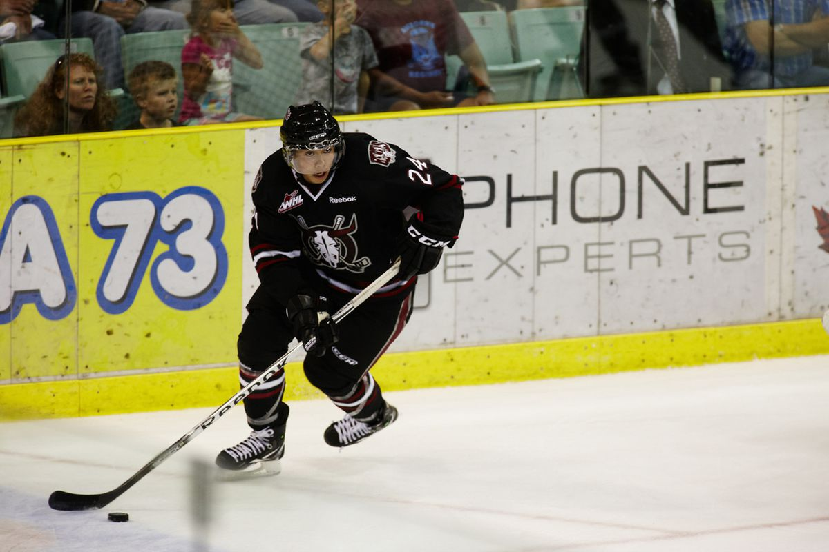 Mathew Dumba can skate. With the puck. And such. (Photo credit: Dave Brunner Photography)