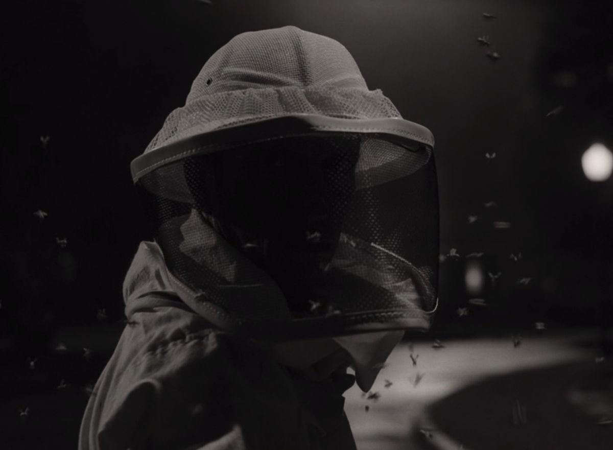 WandaVision: Beekeeper man in episode 2 standing in the middle of the street at night
