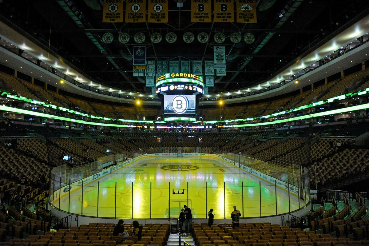 The TD Garden in Boston, Mass. is site of the MIAA Hockey State Tournament championship games on Sunday, March 15, 2015.