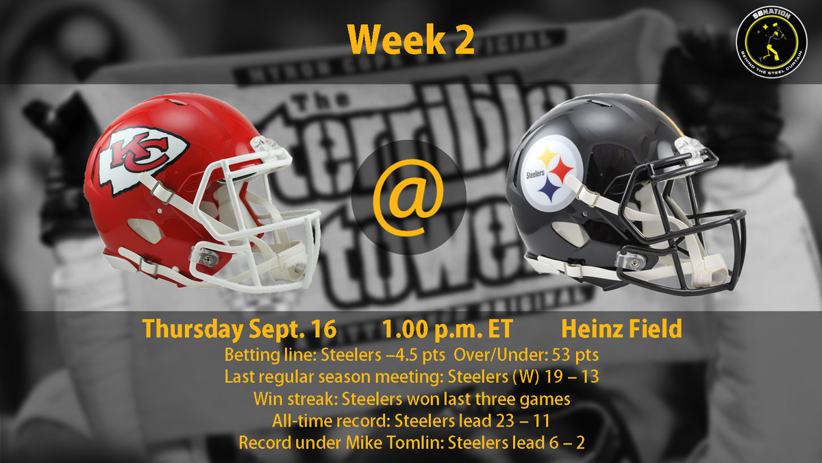 a57a0fcb Steelers vs. Chiefs Week 2: Time, TV Schedule and how to watch ...