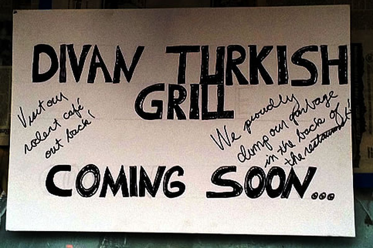 Divan Turkish Kitchen Coming Soon