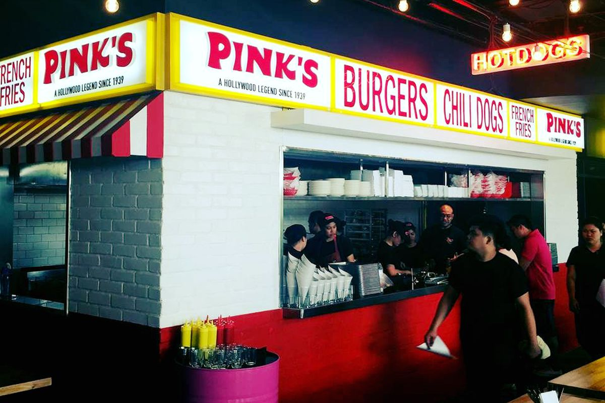 The new Pink's Hot Dogs in Manila, Philippines