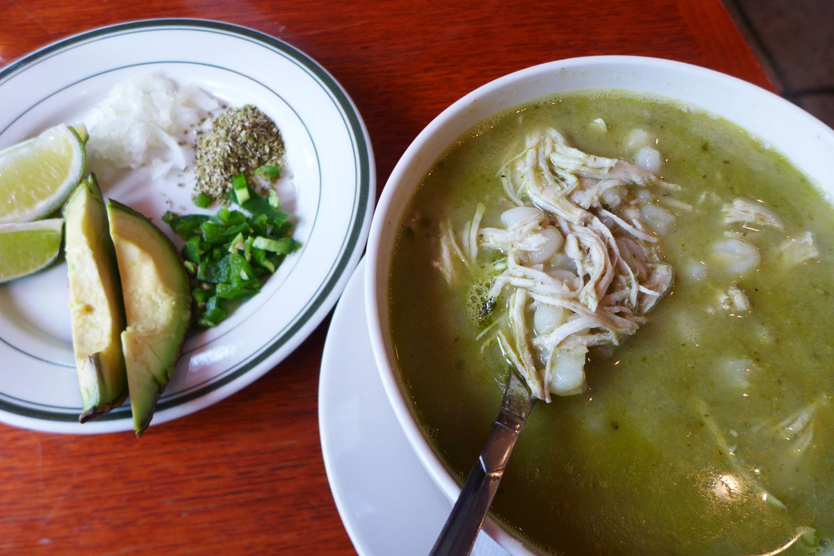 Green pozole is an especially delicious form of the soup rarely found in New York City.