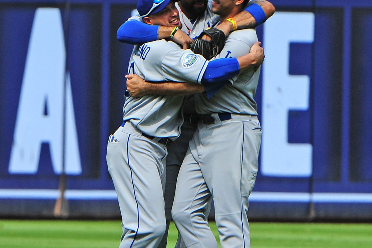 Shane Victorino has new outfield mates now.