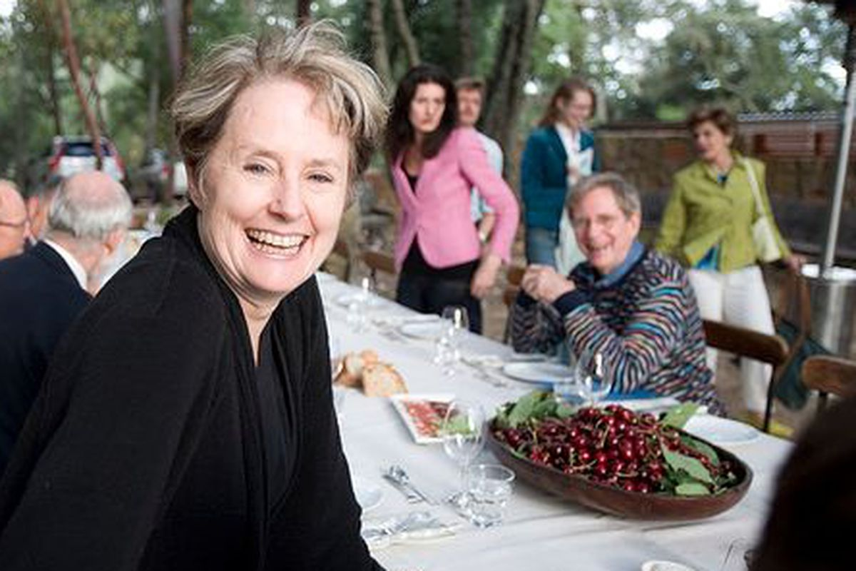 Alice Waters at a 2007 dinner.