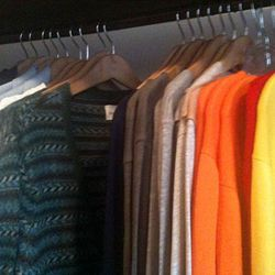 This may have been the most colorful men's sale selection we've ever seen.