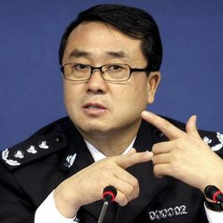 FILE - In this Oct. 21, 2008 file photo, then Chonqing city police chief Wang Lijun speaks during a press conference in Chongqing, southwestern China. A Chinese court sentenced the former police who exposed a murder by a Chinese politician's wife to 15 years in prison Monday, Sept. 24, 2012, in a decision that sets the stage for China's leadership to wrap up a seamy political scandal and move ahead with a generational handover of power.