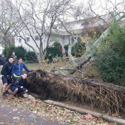 LDS Missionaries help out with the cleanup effort Wednesday, Oct. 31, 2012, in New York after Hurricane Sandy tore up the East Coast Oct. 29, 2012.