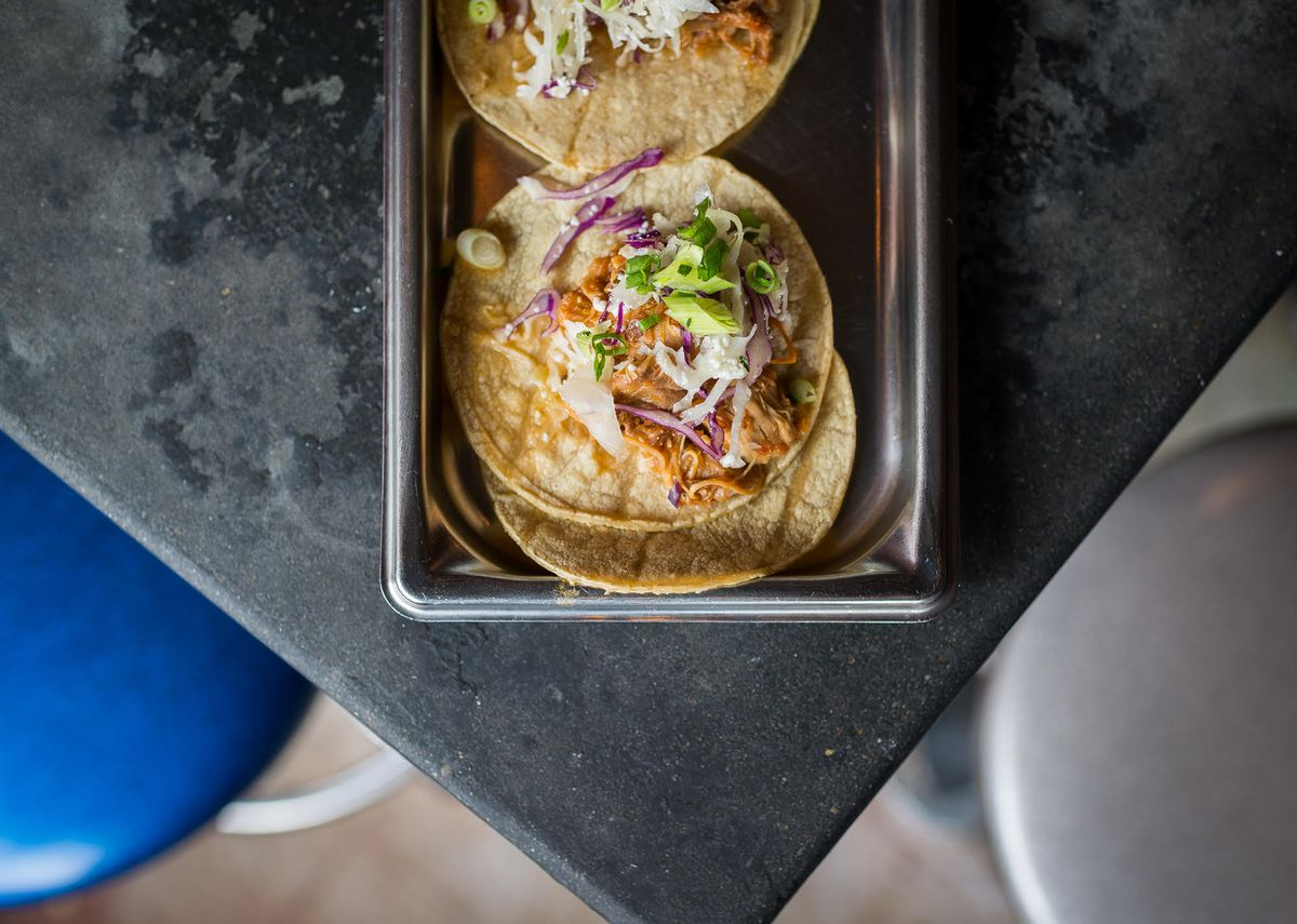"""El Chucho tacos in DC. [Photo: <a href=""""http://dc.eater.com/2015/7/16/8972241/dc-dining-budget-10-dollars"""">Rey Lopez</a>]"""