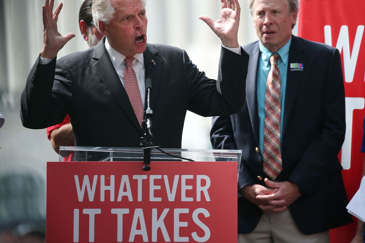 Virginia Gov. Terry McAuliffe couldn't pick up Senate seats for Democrats.
