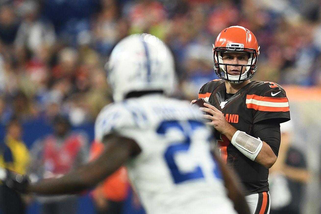 Garrett Gilbert making his case to the Browns