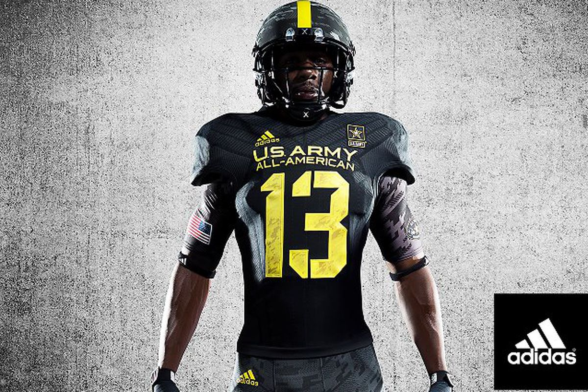 f84ba817536 adidas reveals new 2013 US Army All-American Bowl uniforms ...