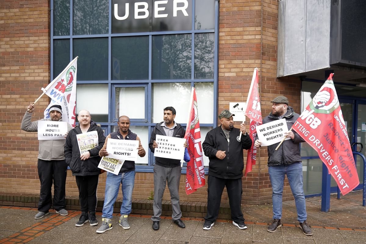 Uber Drivers Protest Ahead Of Stock Market Flotation