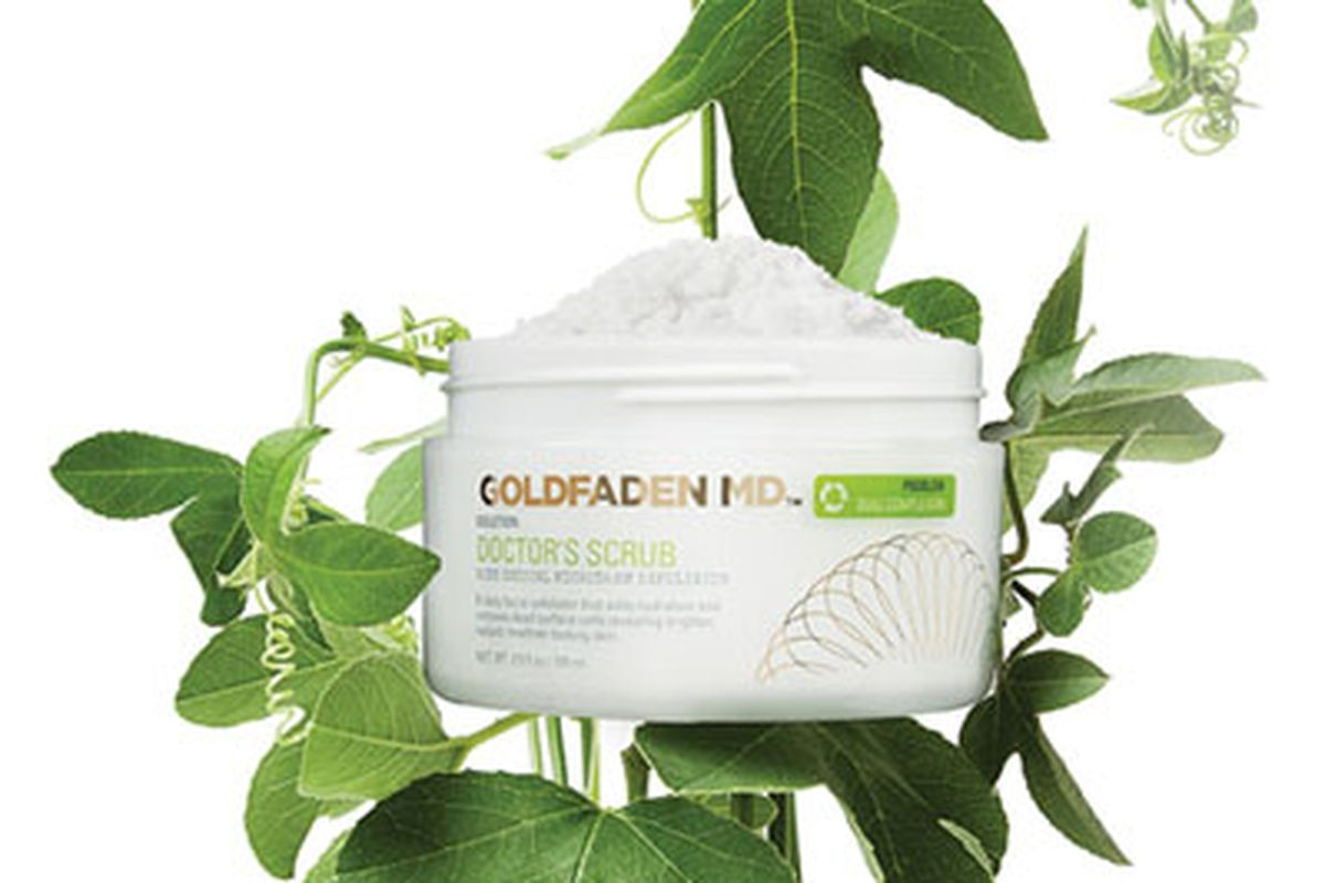 """Goldfaden MD's <a href=""""http://www.goldfadenmd.com/doctors-scrub/"""">Doctor's Scrub</a> contains rubies. Yes, rubies."""