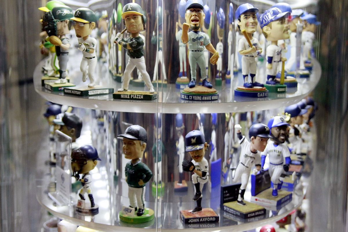 MIAMI, FL - MAY 11:  The Bobblehead Museum is shown prior to a game between the Florida Marlins and the New York Mets at Marlins Park on May 11, 2012 in Miami, Florida.  (Photo by Marc Serota/Getty Images)