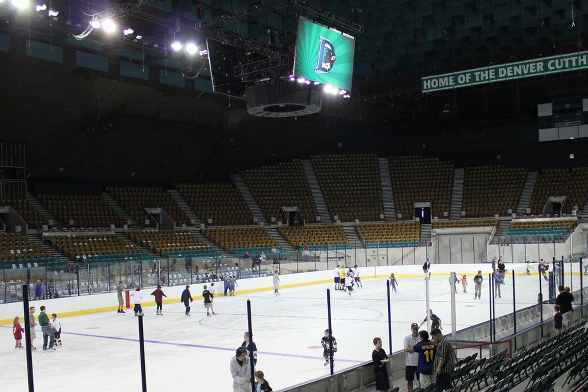 Denver, CO. August 25, 2012. Cutthroats Open House at the Denver Coliseum.
