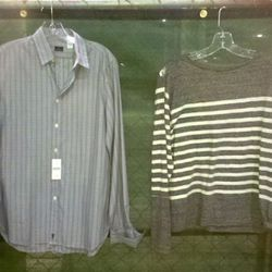 Left, Paul Smith shirt for $119, Opening Ceremony knit shirt for $159