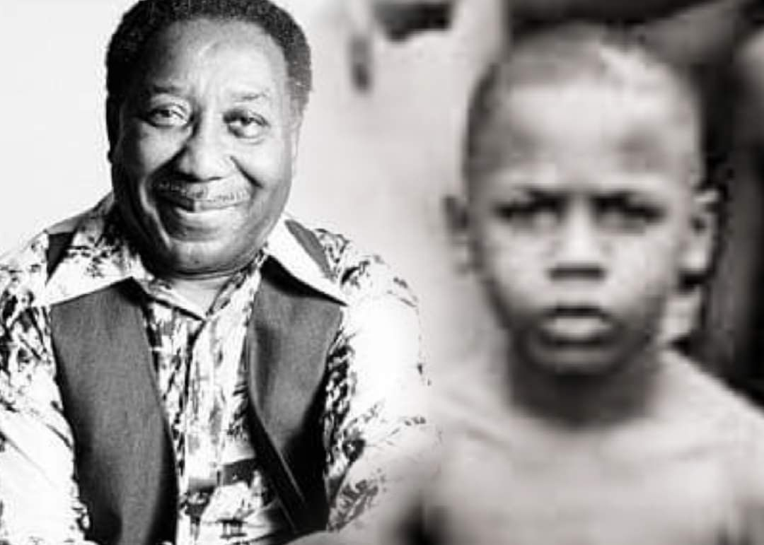 A 7-year-old Joseph Morganfield is shown in this image with his father, Muddy Waters.
