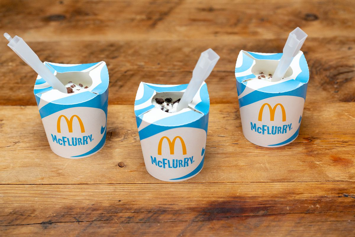 McDonalds UK menu now has Smarties McFlurry on the menu, but Dairy Milk and Crunchie are gone