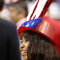 Tennessee delegate Charlotte Bergmann watches during the final night of the National Republican Convention in Cleveland on Thursday, July 21, 2016.