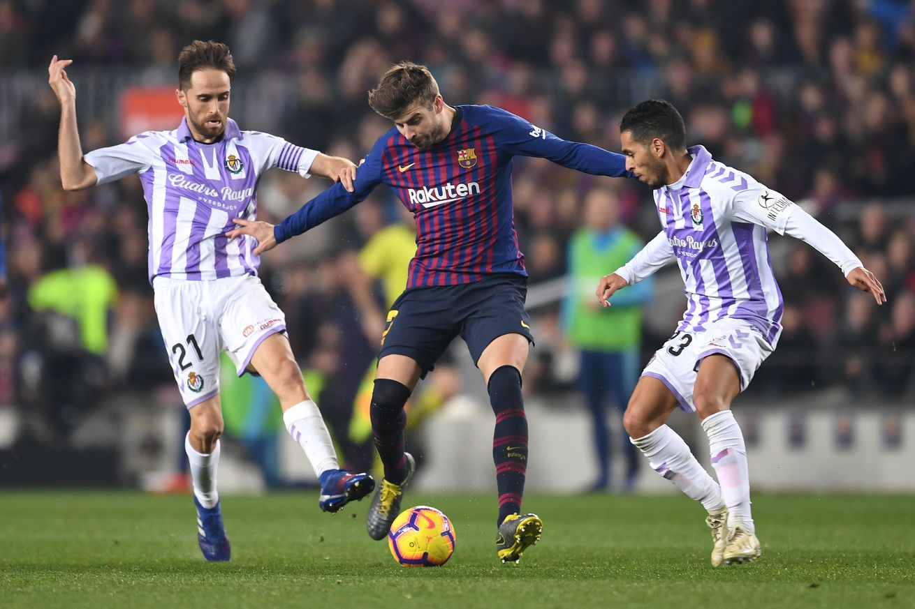 Pique explains how Barca must improve after Valladolid win