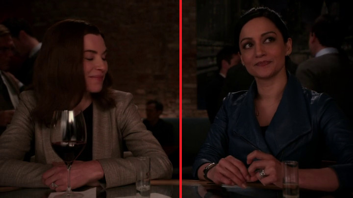 The line stays in place on The Good Wife.