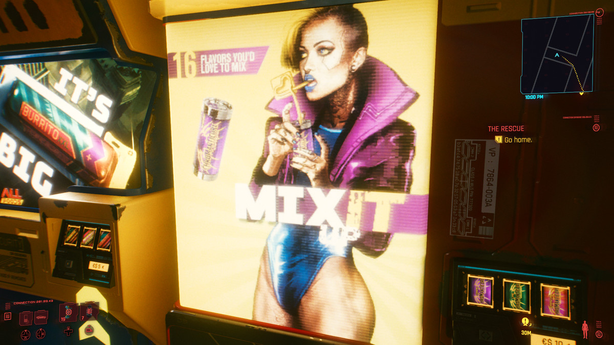 """The """"Mix It Up"""" poster in Cyberpunk 2077 displays a sexualized trans model"""