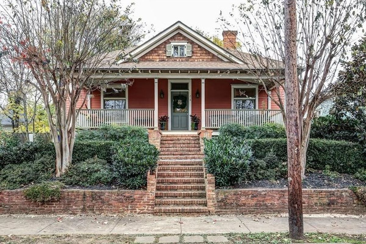 A restored bungalow with quintessential C-town curb appeal in Atlanta.