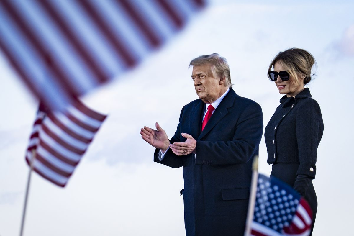 President Trump Departs For Florida At The End Of His Presidency
